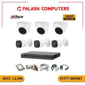 Dahua CC Camera Pakage C6PCS/1DVR8Channel/HDD 500GB